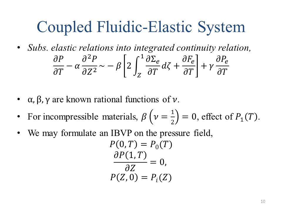 Coupled Fluidic-Elastic System 10