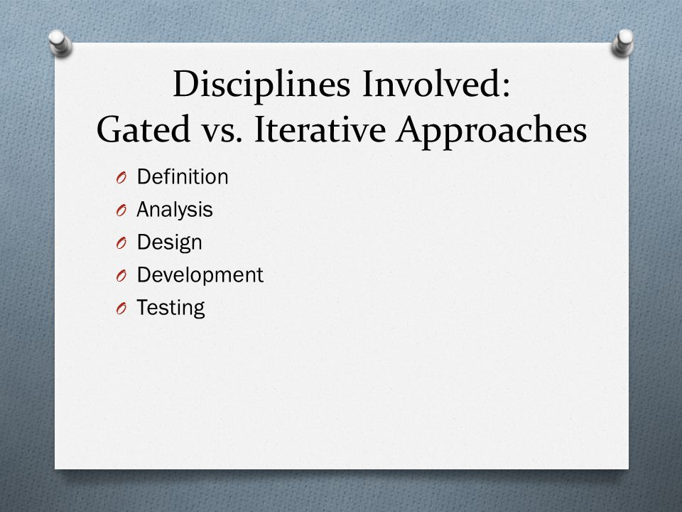 Disciplines Involved: Gated vs.
