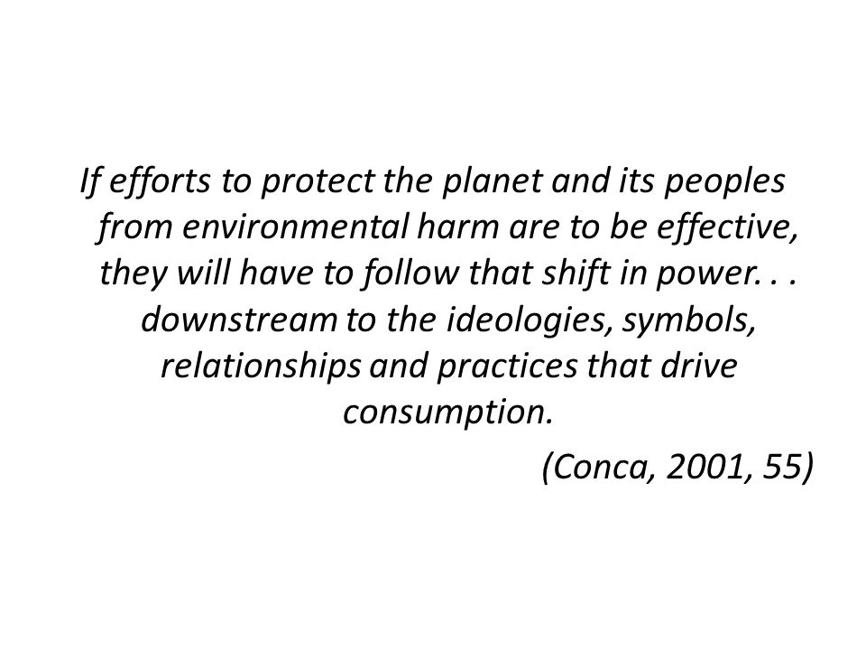 What we need to do for sustainable consumption.