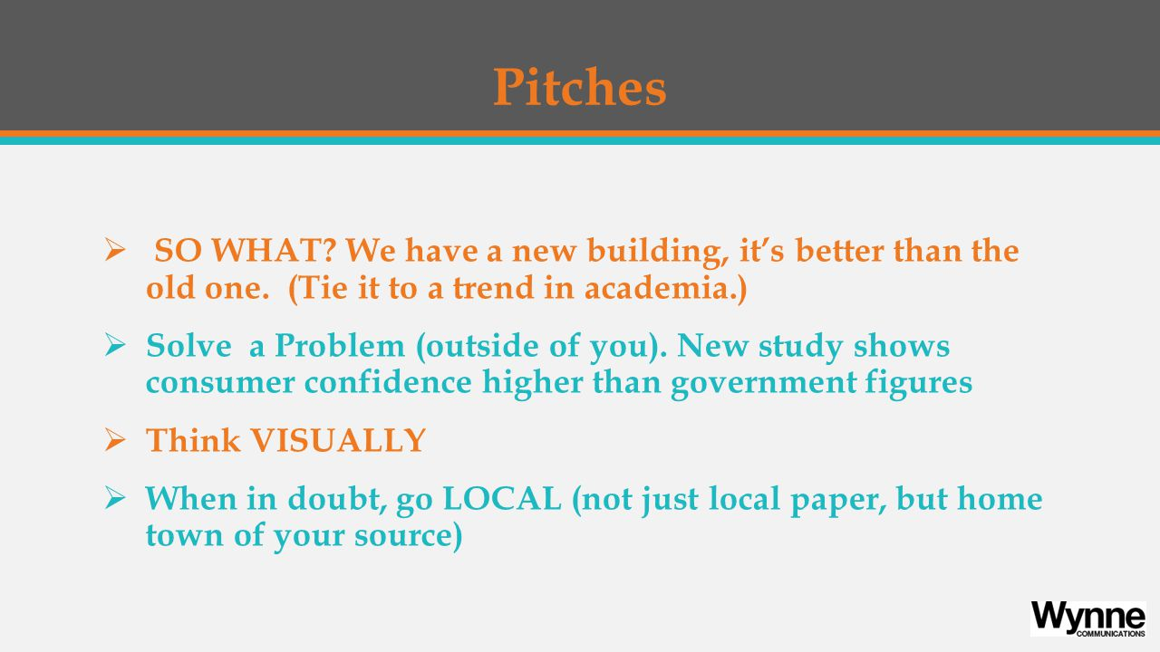 Pitches  SO WHAT. We have a new building, it's better than the old one.