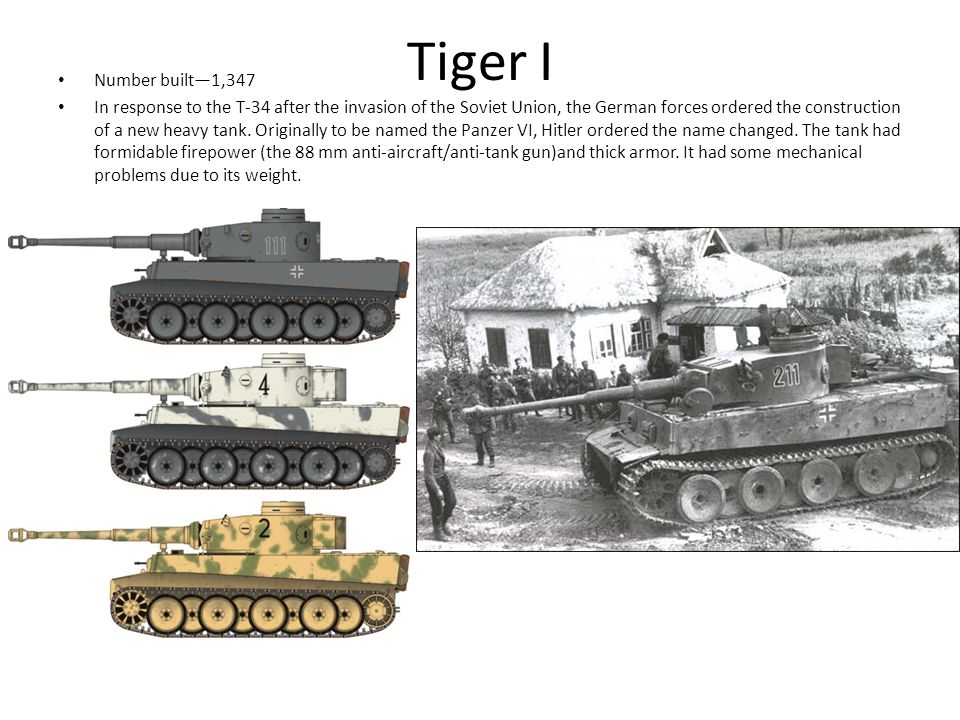 Tiger II Number built—492 Even larger and heavier than the Tiger I the Pzkpfw VIB Tiger II.
