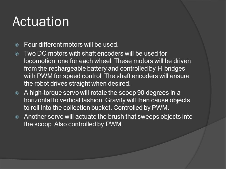 Special Sensor  A front-facing webcam will be used for object detection.