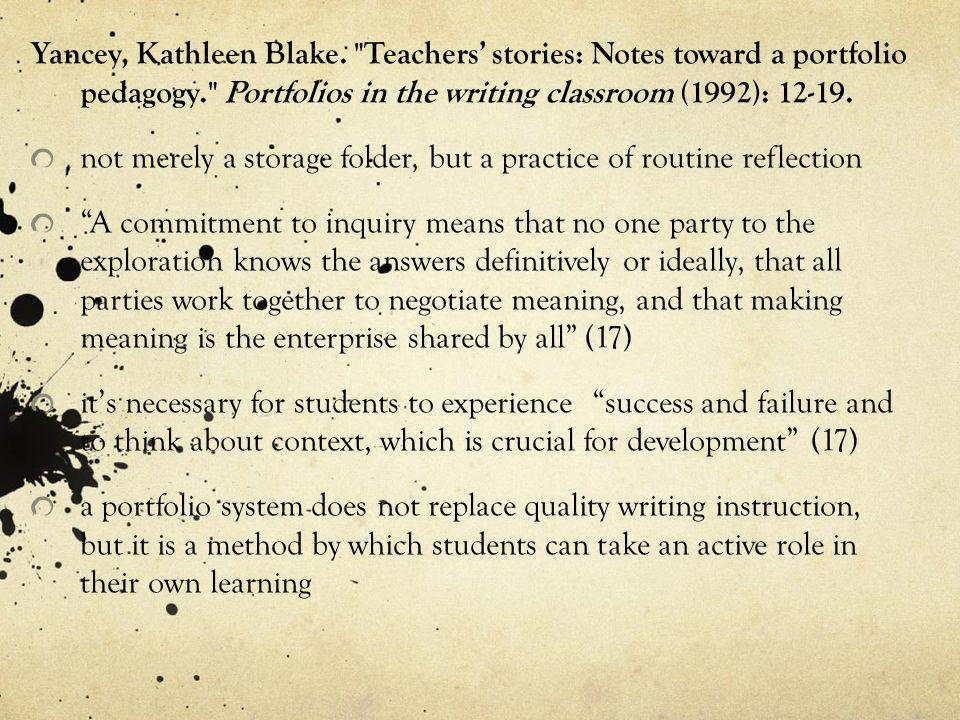 Yancey, Kathleen Blake.