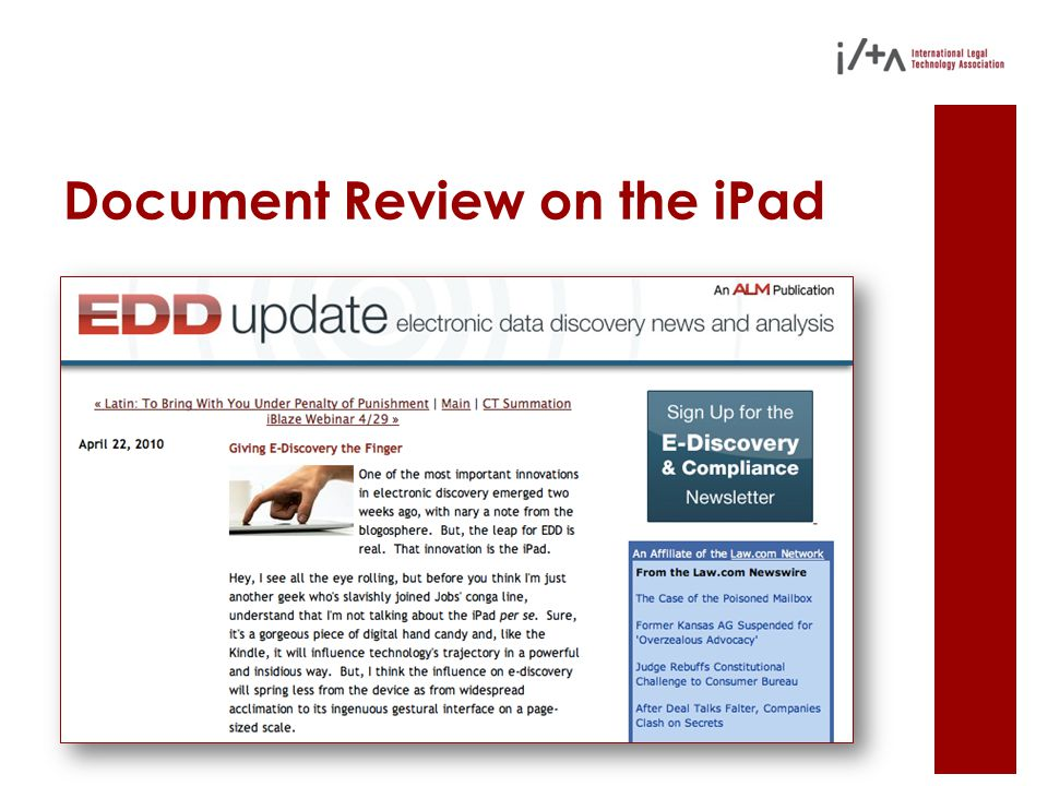 Document Review on the iPad