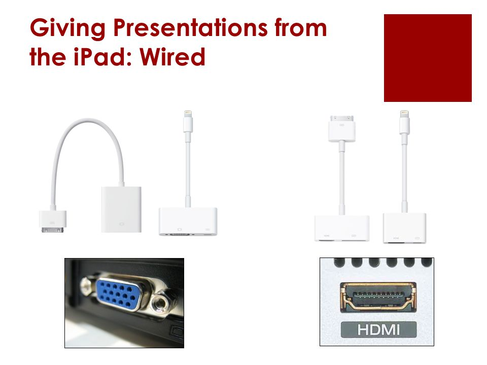 Giving Presentations from the iPad: Wired