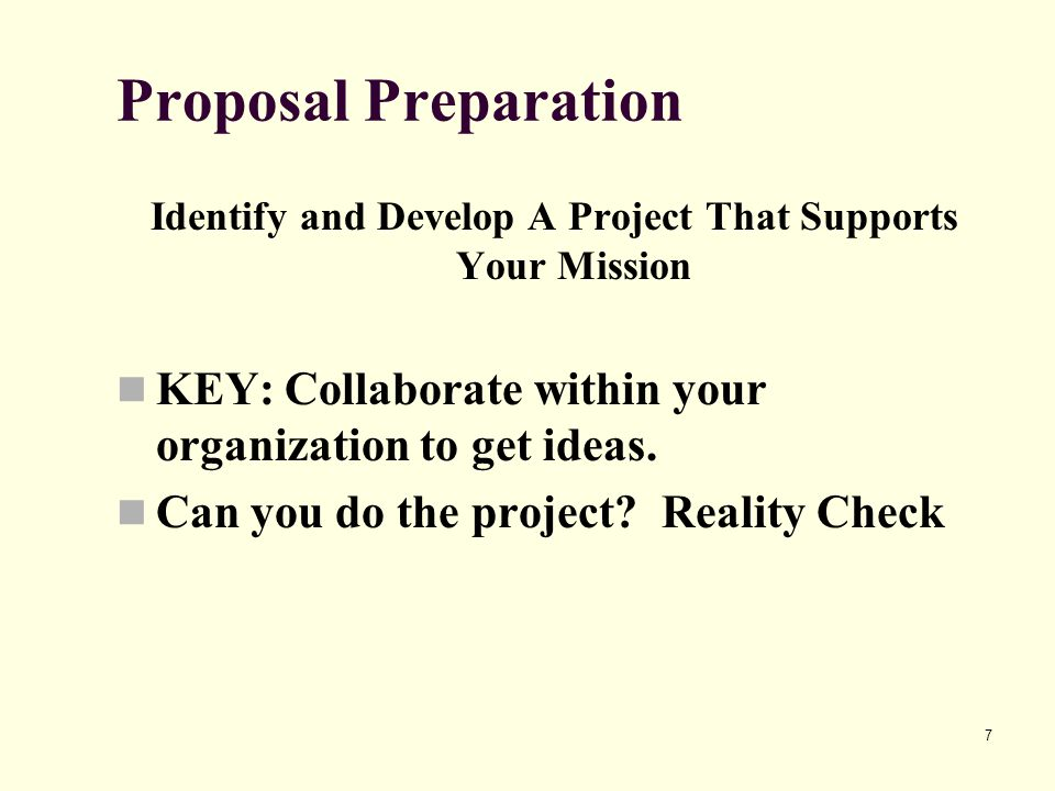 28 Writing the Proposal Problem Statement/Statement of Need Try to avoid circular reasoning.