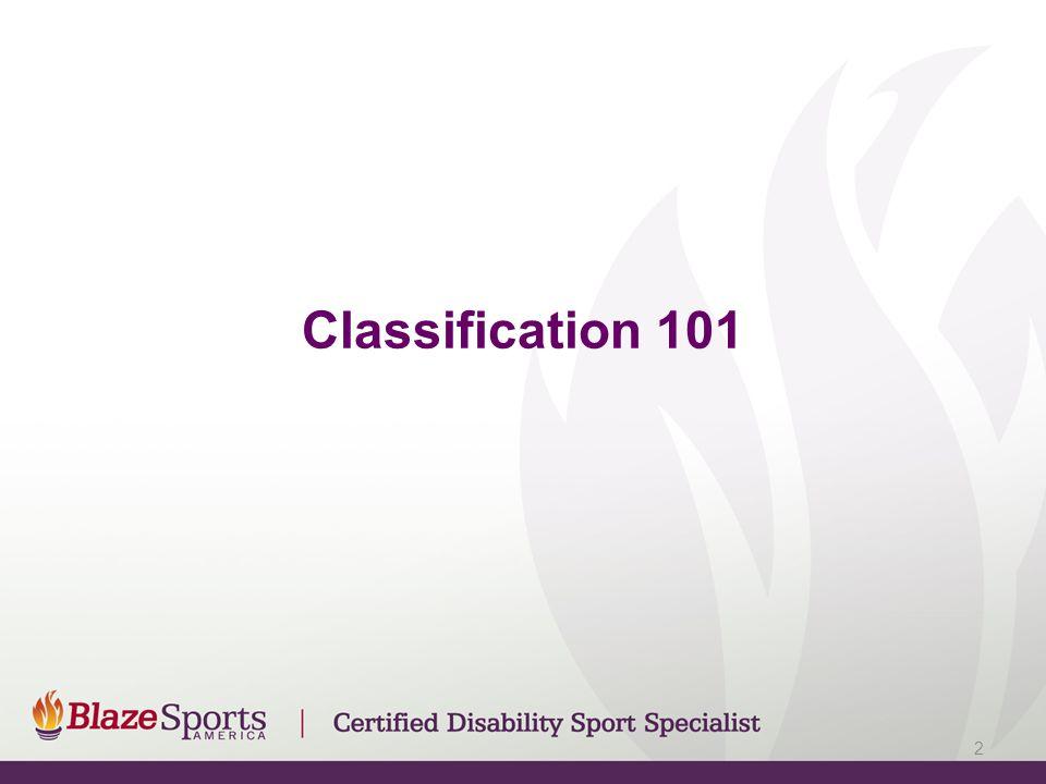 Classification 101 2