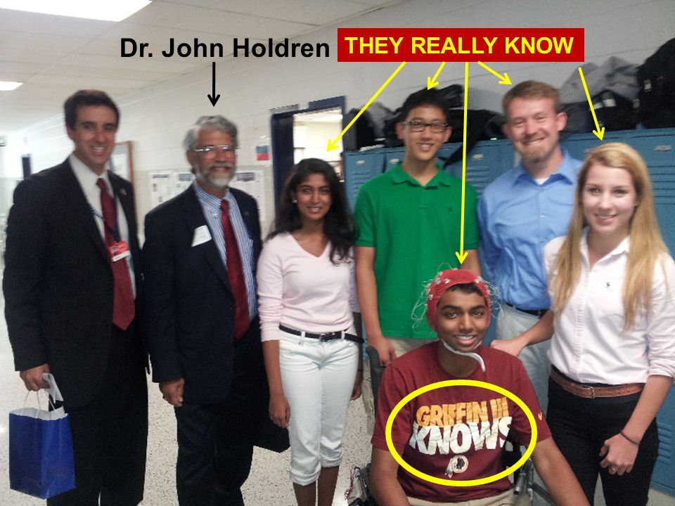 Dr. John Holdren THEY REALLY KNOW