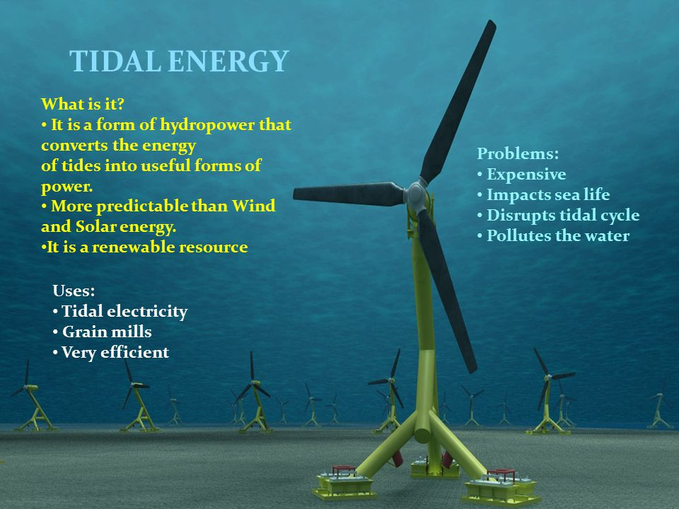 TIDAL ENERGY What is it.