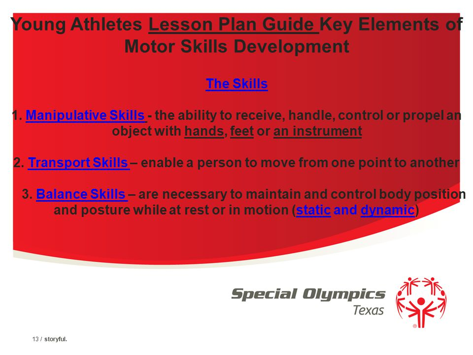 Young Athlete Activity Guide Contents 1. The Activity Guide Provides Basic Instruction for Leading Activities, Recommends Equipment and Gives Tips for