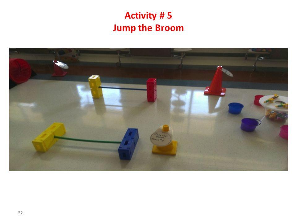 Activity # 4 Balance Beam Walk 31