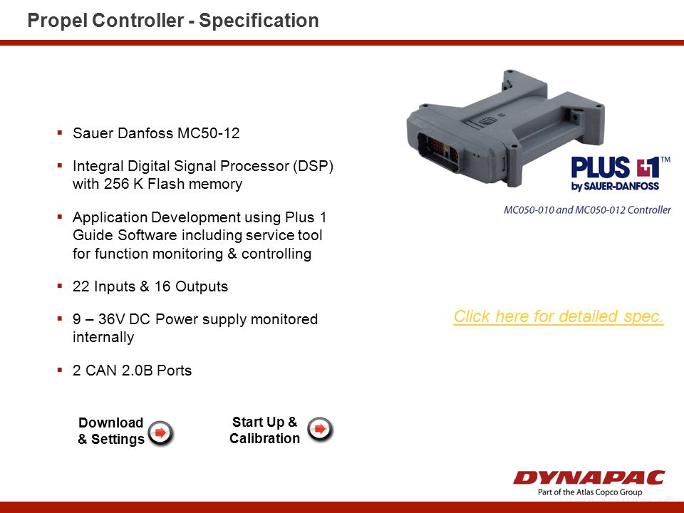 Propel Controller Inputs & Outputs
