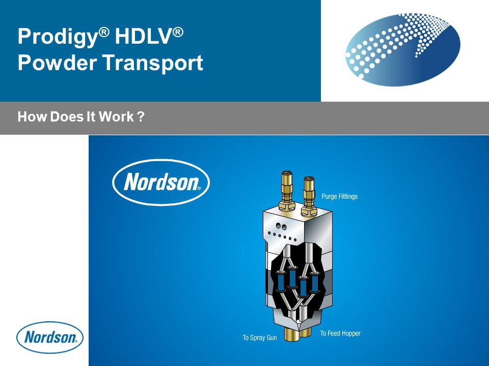 How Does It Work ? Prodigy ® HDLV ® Powder Transport