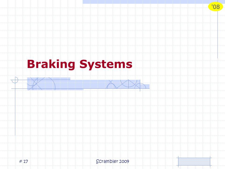 08 Scrambler 2009# 17 Braking Systems