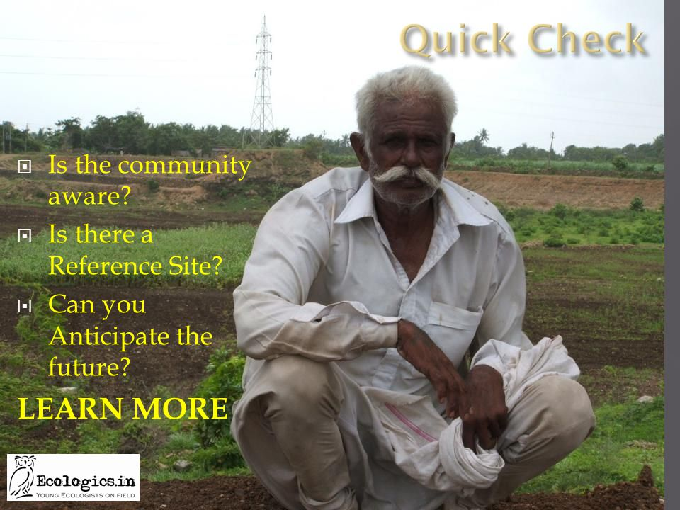  Is the community aware  Is there a Reference Site  Can you Anticipate the future LEARN MORE