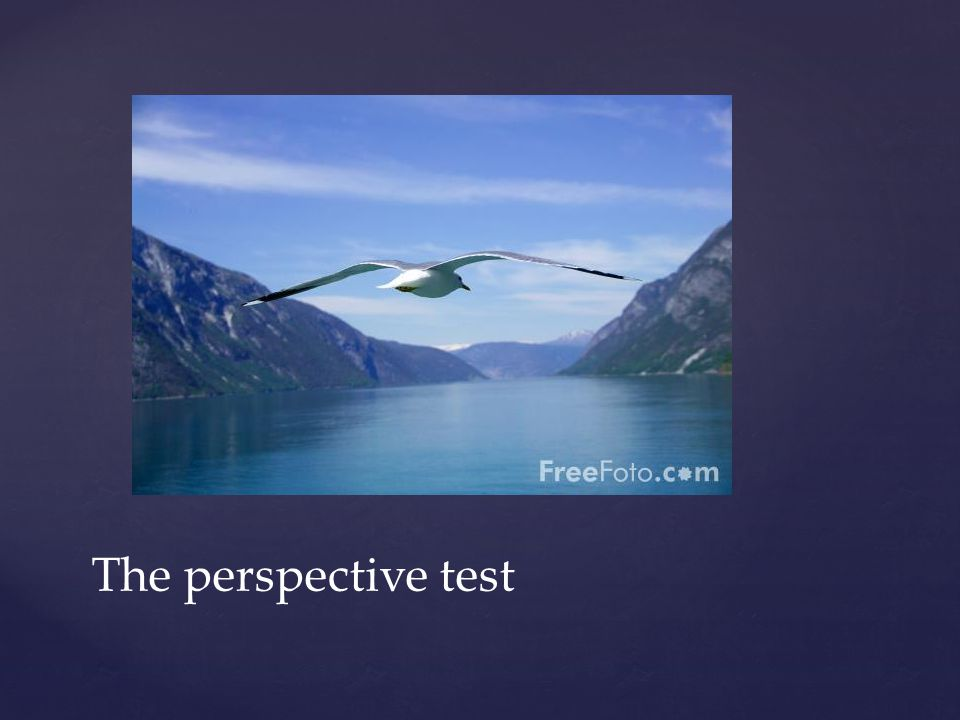The perspective test