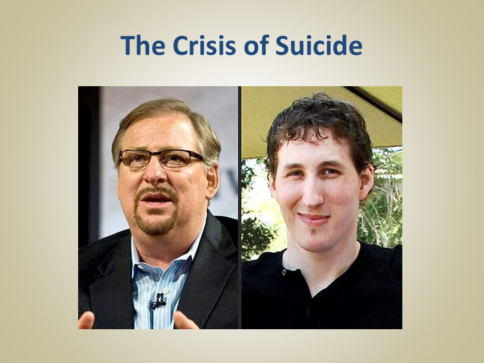 The Crisis of Suicide