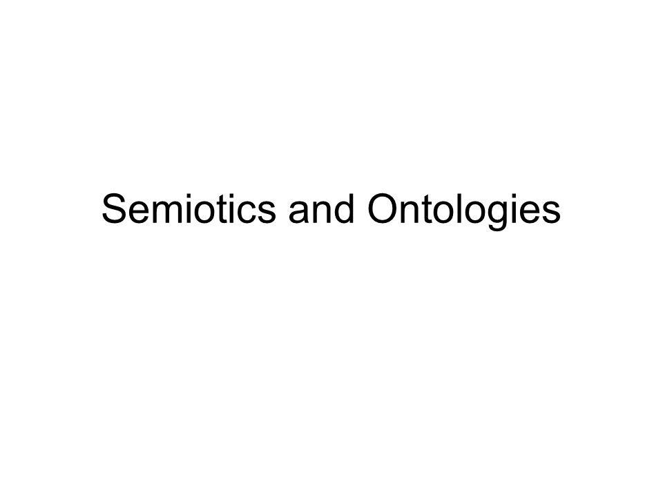 Semiotics and Ontologies