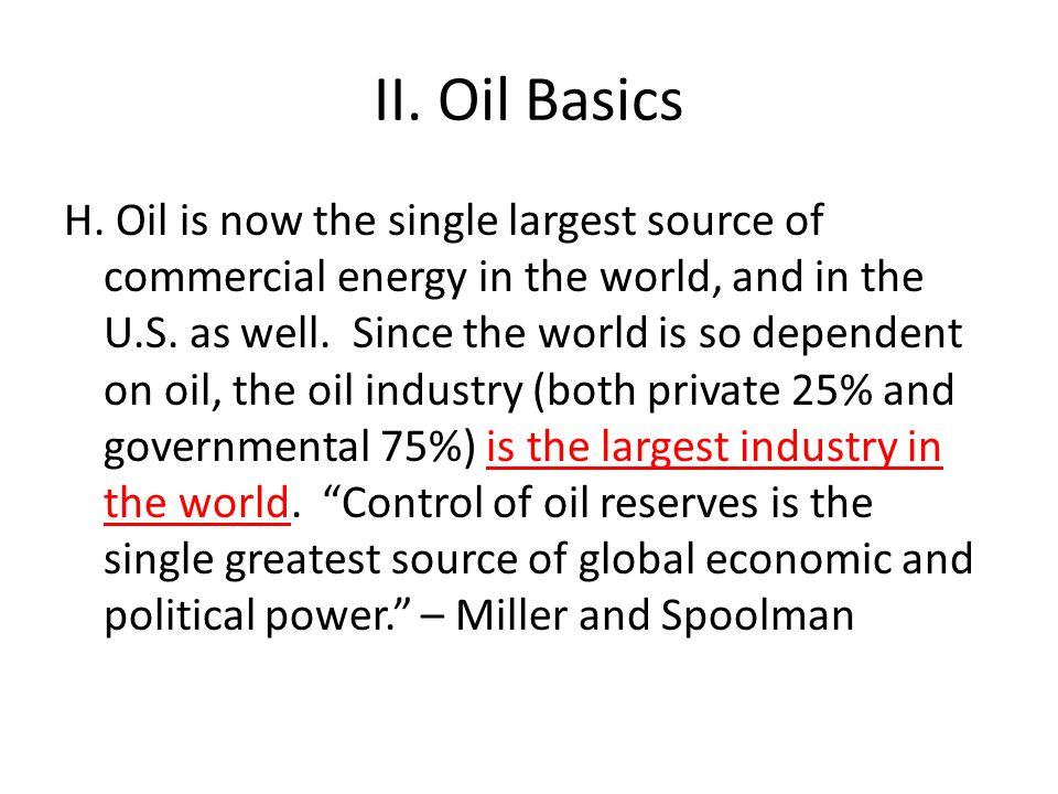 II.Oil Basics H.