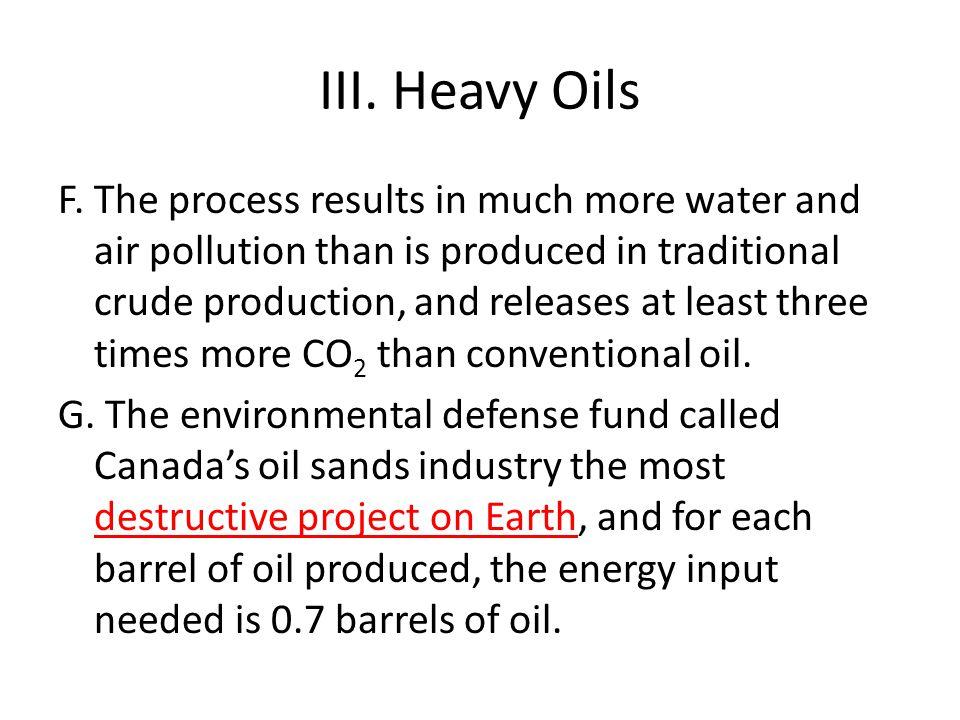 III.Heavy Oils F.