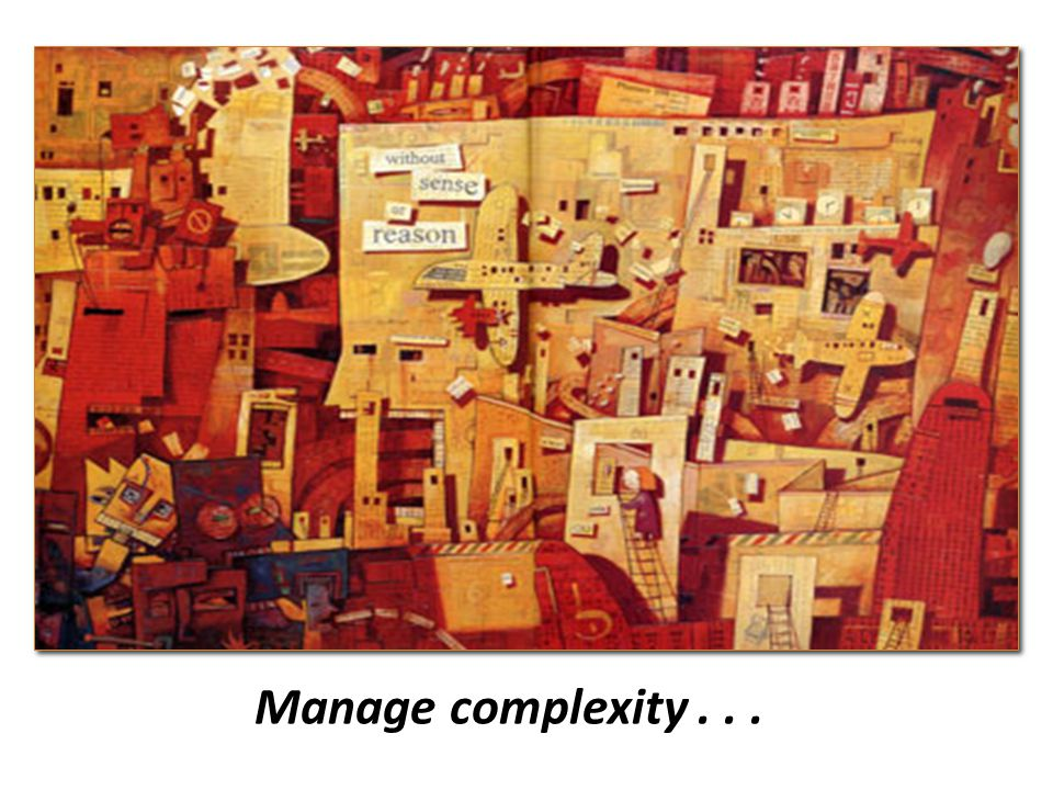 Manage complexity...