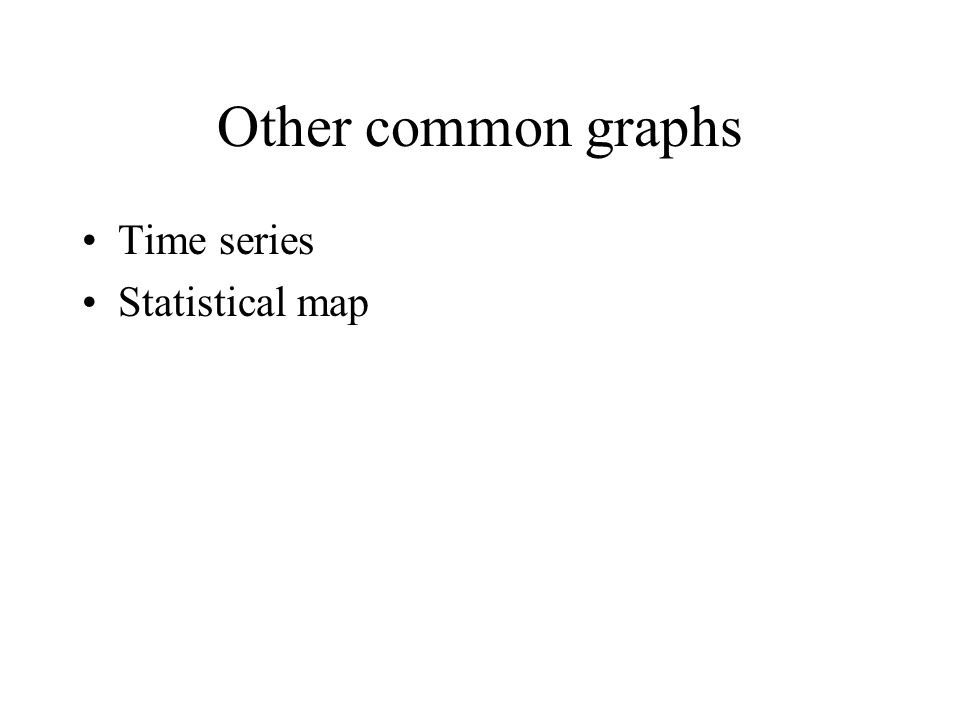 Other common graphs Time series Statistical map