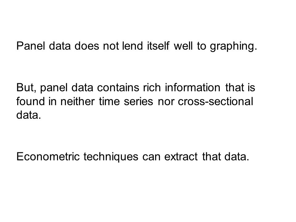 Panel data does not lend itself well to graphing.