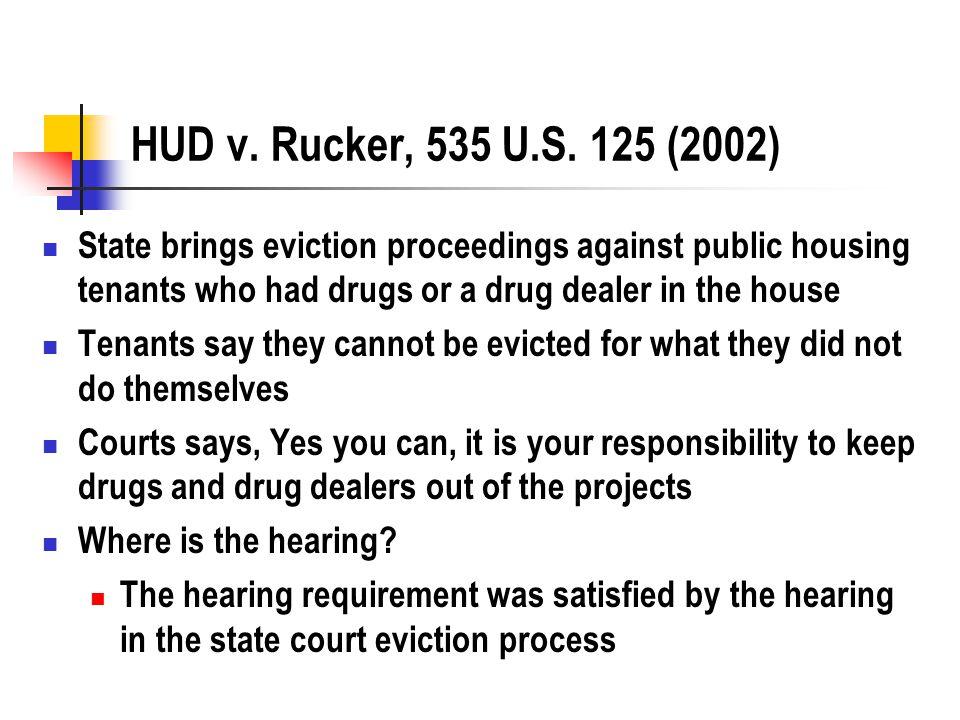 HUD v. Rucker, 535 U.S.