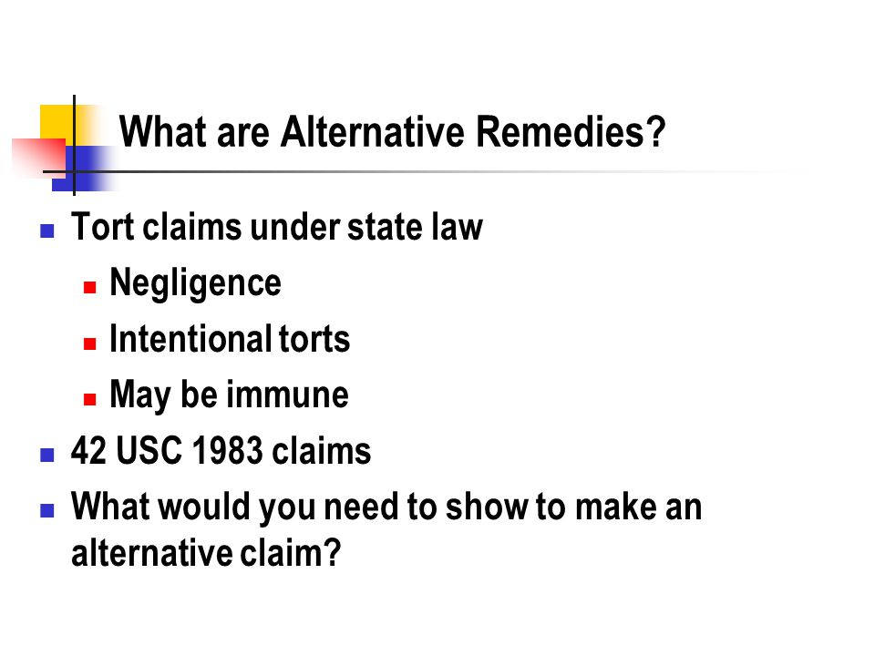 Tort Remedies as Due Process What are the limitations on a tort remedy as a substitute for due process.