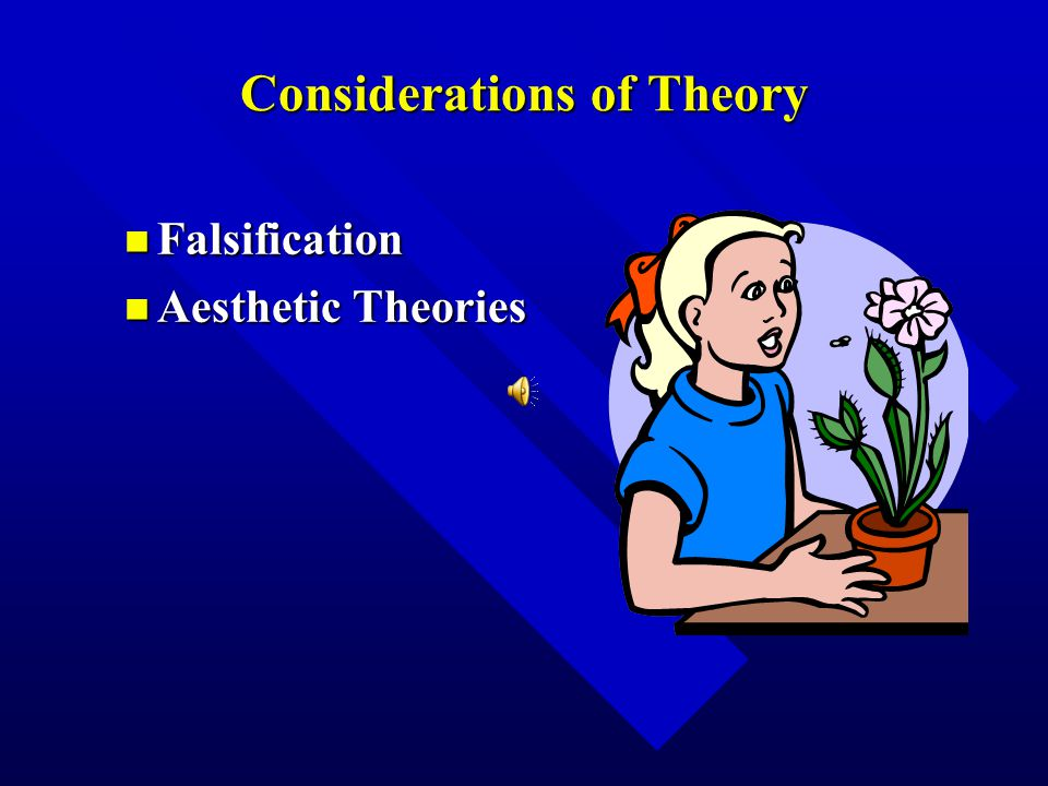 Considerations of Theory n Falsification