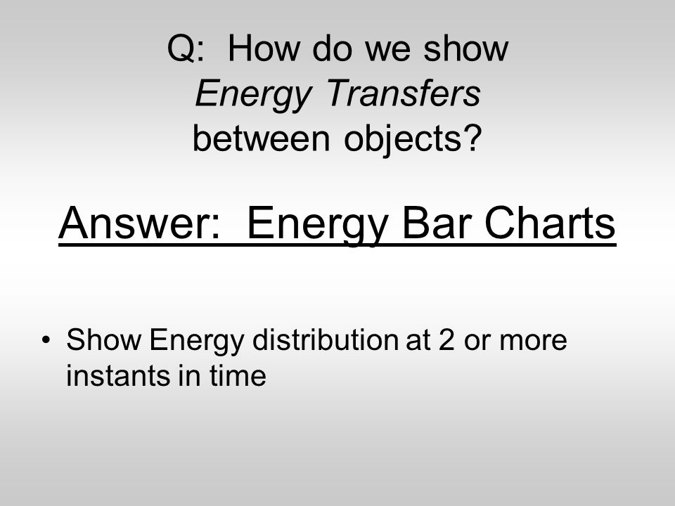 Q: How do we show Energy Transfers between objects.
