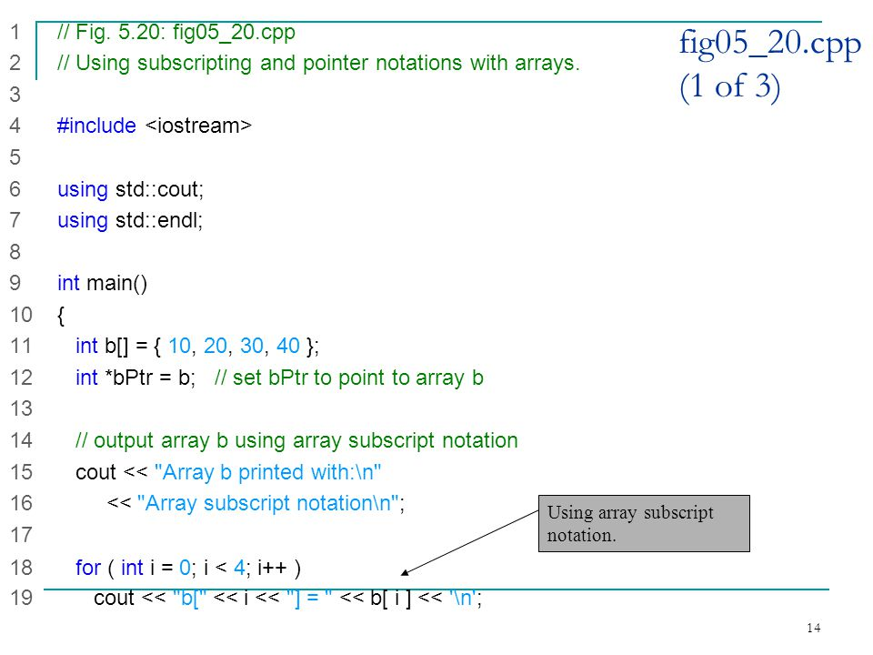 14 fig05_20.cpp (1 of 3) 1 // Fig.