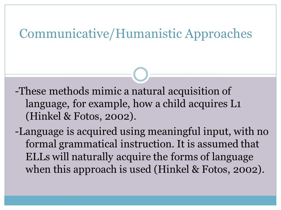 Focus on Form: Overtly draws students' attention to linguistic elements as they arise incidentally in lessons whose overriding focus is on meaning or communication (Long, 1991, pp.