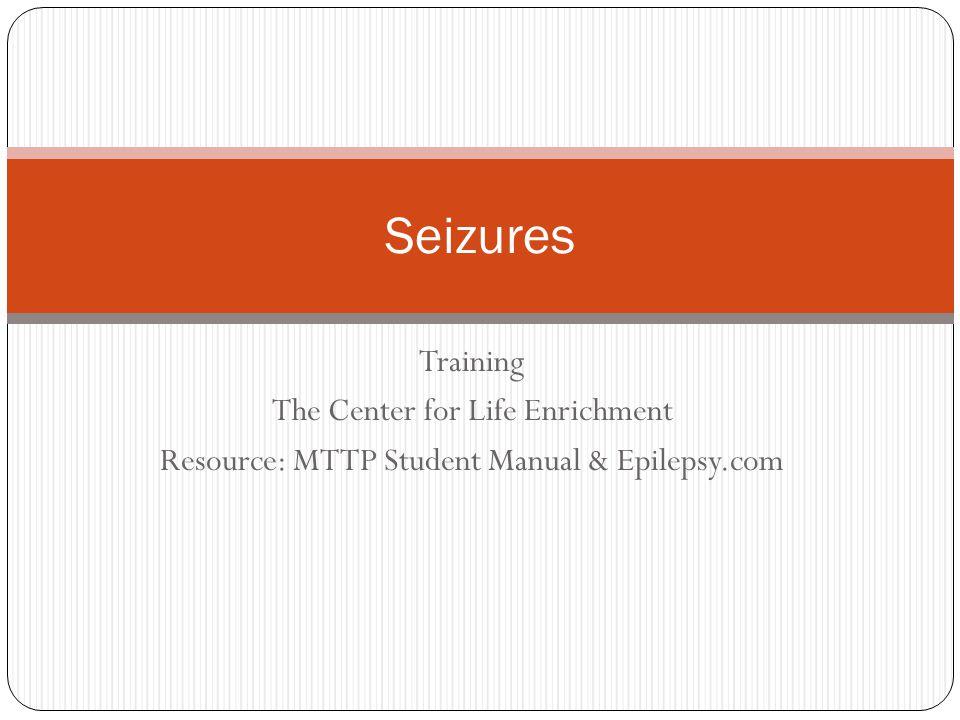 What is a Seizure.