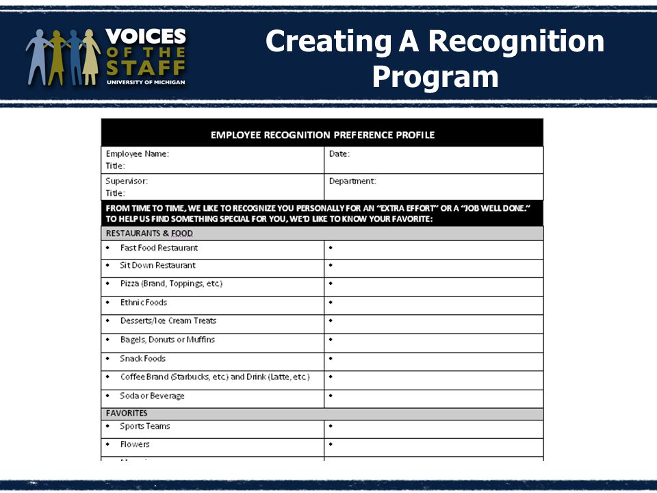 Creating A Recognition Program