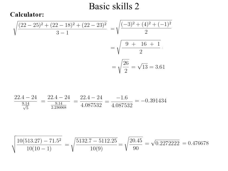 Basic skills 2 Calculator: