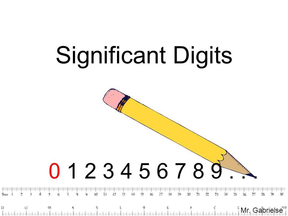 Mr. Gabrielse Significant Digits 0 1 2 3 4 5 6 7 8 9... Mr. Gabrielse