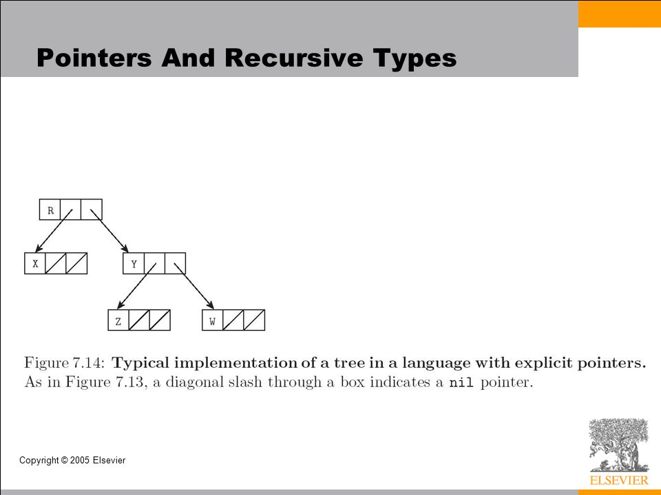 Copyright © 2005 Elsevier Pointers And Recursive Types
