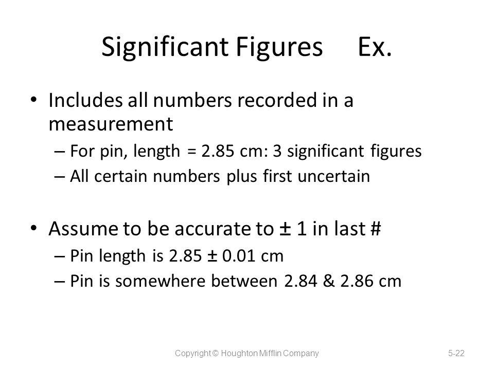 Significant Figures Ex.