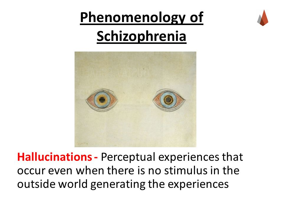 Phenomenology of Schizophrenia Hallucinations - Perceptual experiences that occur even when there is no stimulus in the outside world generating the experiences