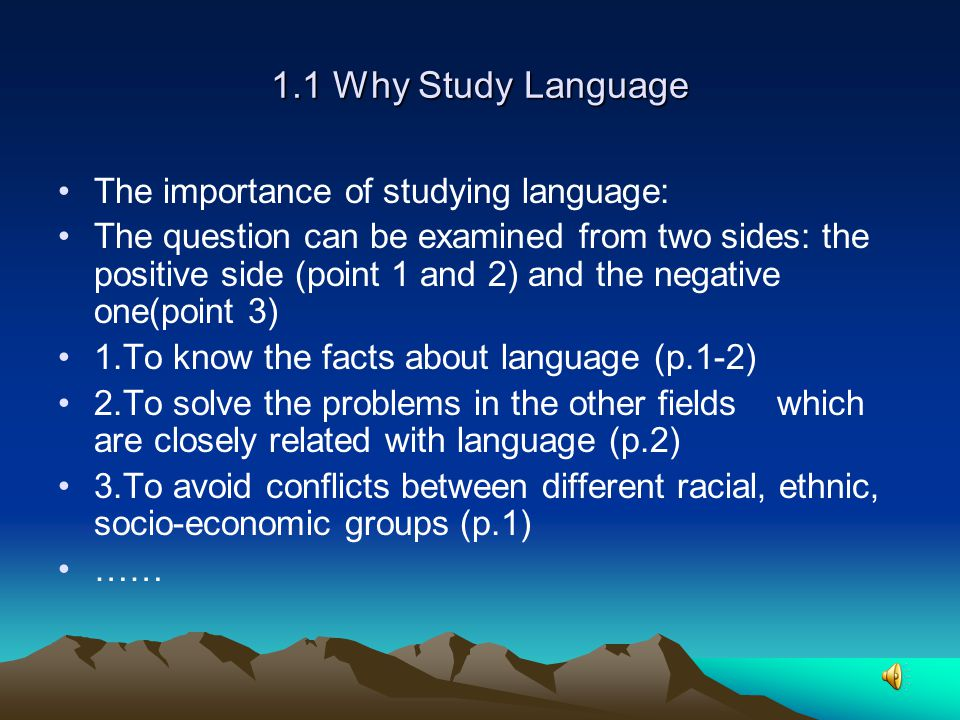 Chapter One Introduction to Linguistics