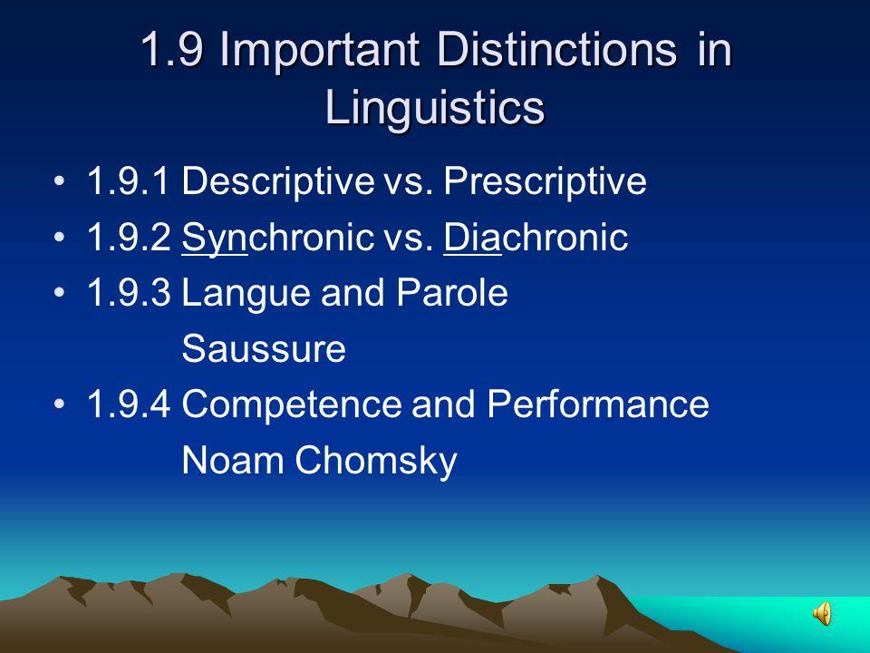 1.8 Macrolinguistics 1.8.1 Sociolinguistics 1.8.2 Psycholinguistics 1.8.3 Anthropological Linguistics 1.8.4 Computational Linguistics