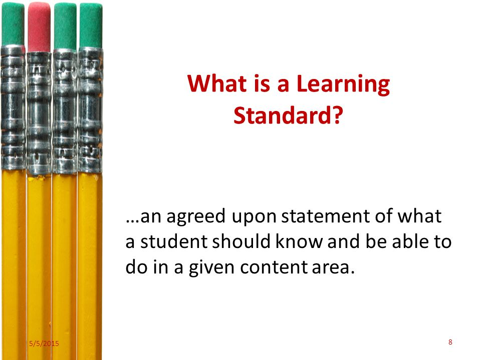 What is a Learning Standard.