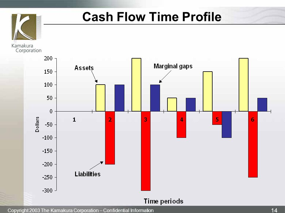 Copyright 2003 The Kamakura Corporation – Confidential Information 14 Cash Flow Time Profile