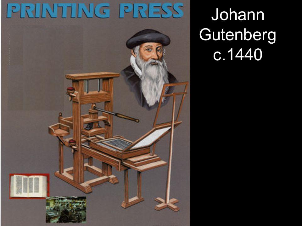 Johann Gutenberg c.1440