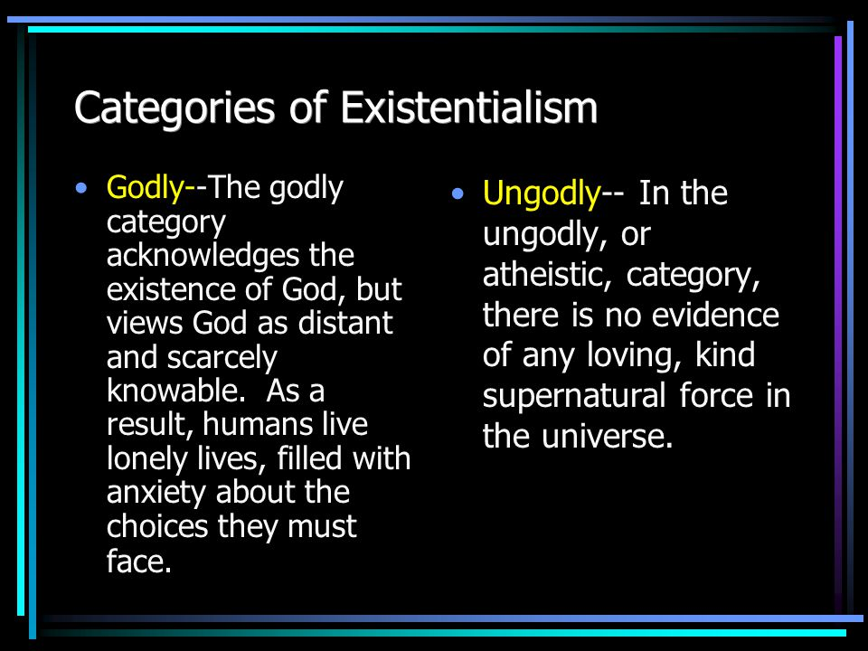 Existentialism--What is it.