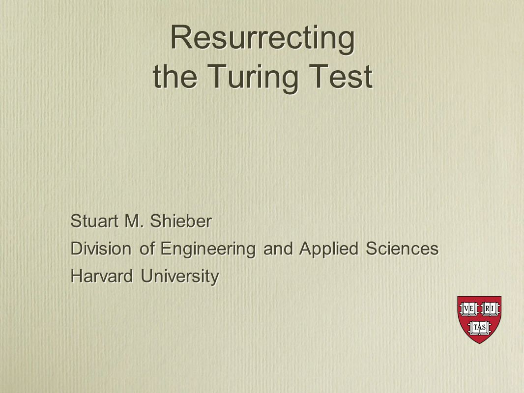 Stuart M. Shieber Division of Engineering and Applied Sciences Harvard University Stuart M.