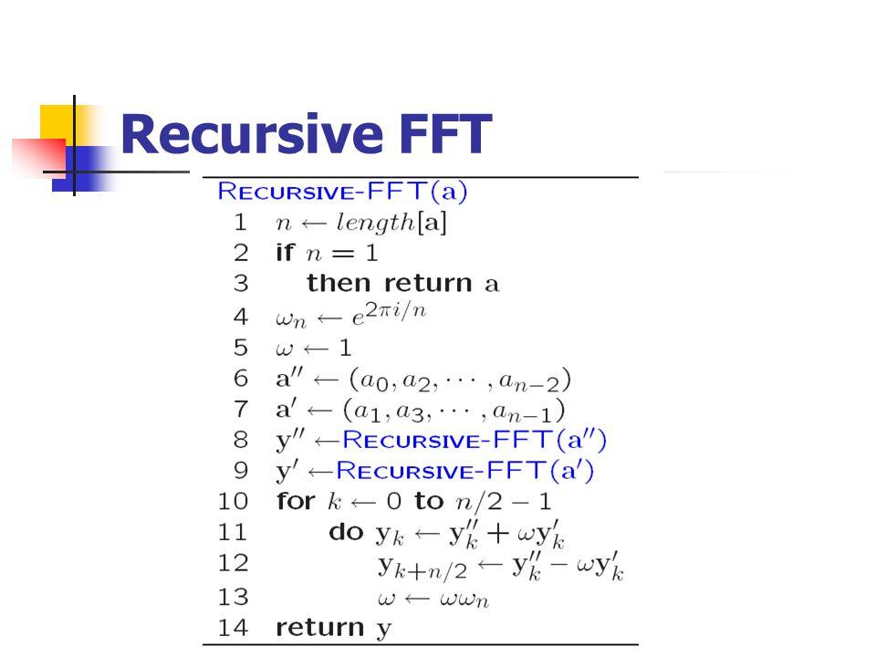 Recursive FFT