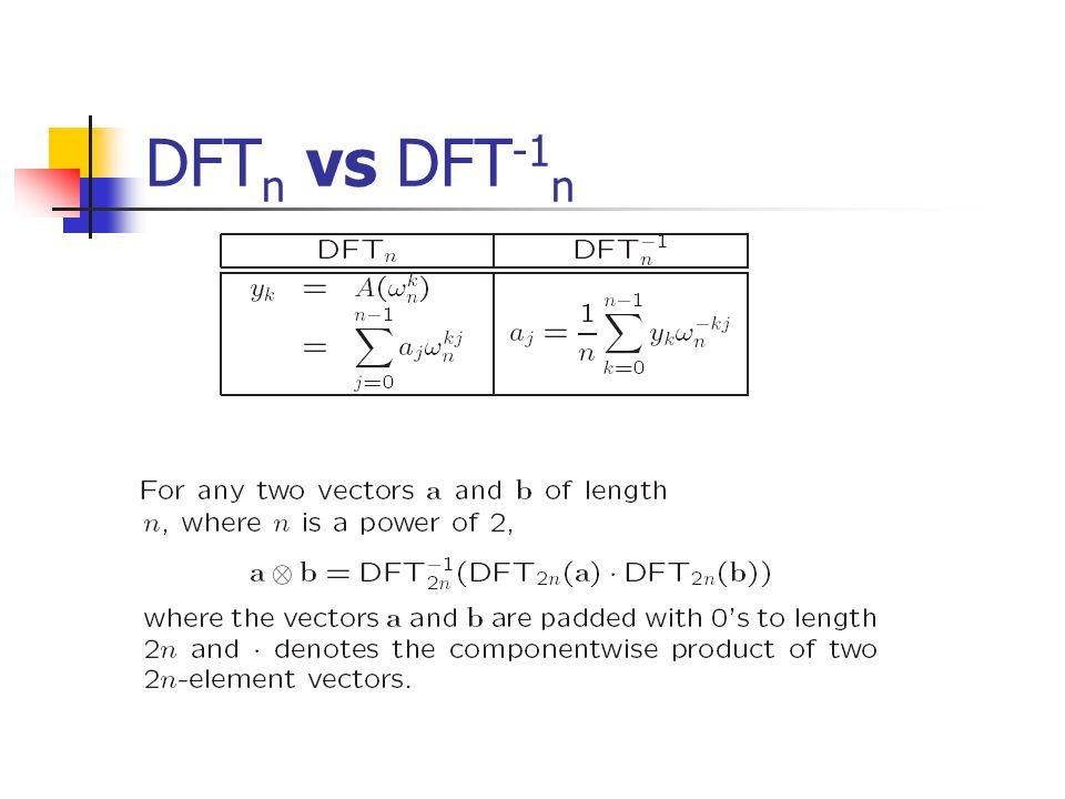DFT n vs DFT -1 n