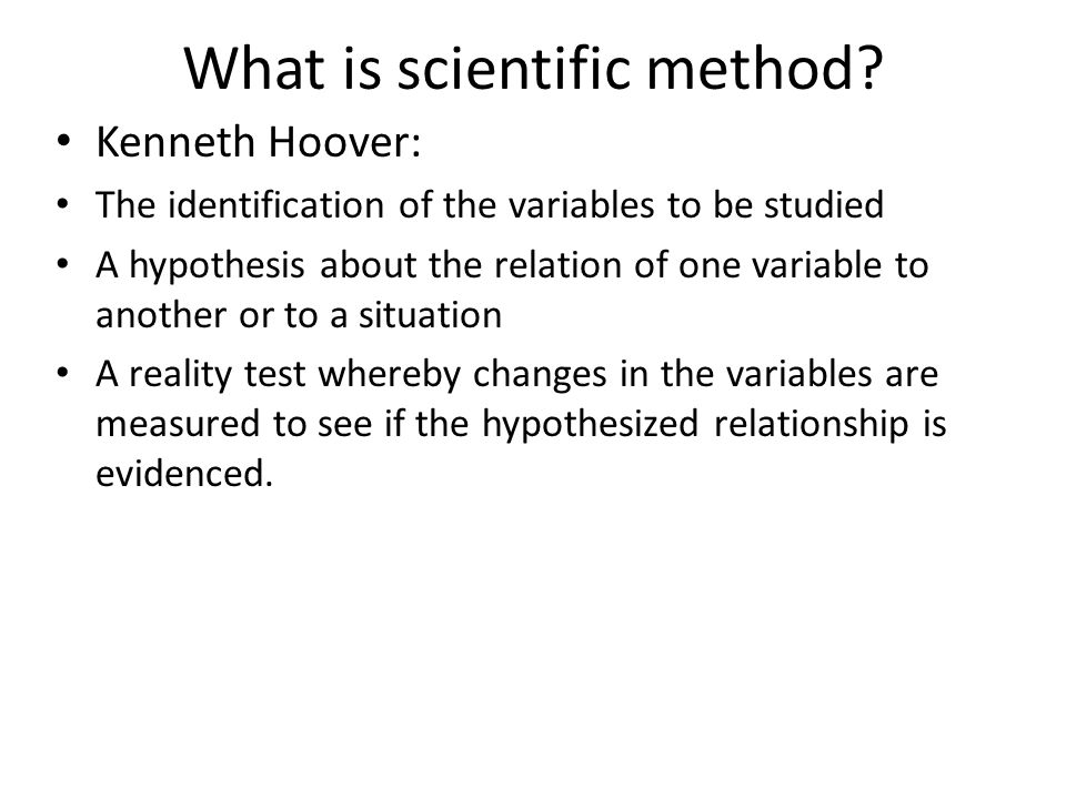 What is scientific method.
